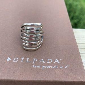 R1532 Modern Maze retired Silpada Sterling ring